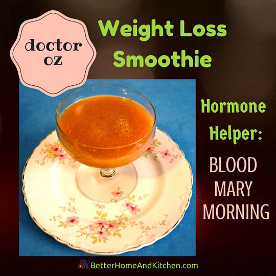 Blood Mary Morning smoothie for slimming