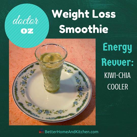 Smoothie Kiwi Chia for burning calories